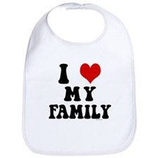 I Love My Family - I Heart My Family Bib