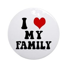 I Love My Family - I Heart My Family Ornament (Rou