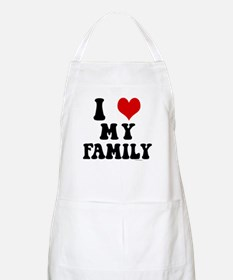 I Love My Family - I Heart My Family BBQ Apron