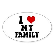 I Love My Family - I Heart My Family Decal