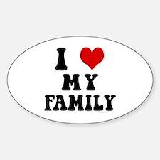 I Love My Family - I Heart My Family Decal
