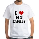 I love my family Mens Classic White T-Shirts