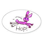 Kid Art Bunny Oval Sticker