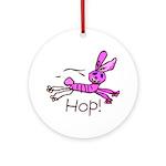 Kid Art Bunny Ornament (Round)