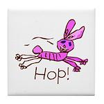 Kid Art Bunny Tile Coaster