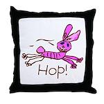 Kid Art Bunny Throw Pillow