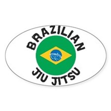 Brazilian Jiu-Jitsu Oval Decal
