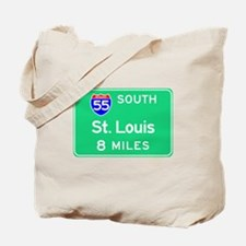 St. Louis MO, Interstate 55 South Tote Bag