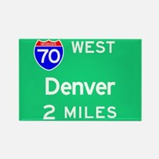 Denver CO, Interstate 70 West Rectangle Magnet