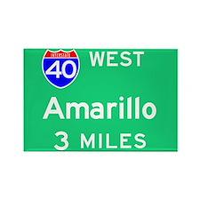 Amarillo TX, Interstate 40 West Rectangle Magnet