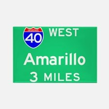 Amarillo TX, Interstate 40 West Rectangle Magnet