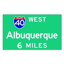 Albuquerque NM, Interstate 40 West Decal
