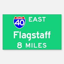 Flagstaff AZ, Interstate 40 East Sticker (Rectangu