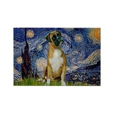 Starry Night & Boxer Rectangle Magnet