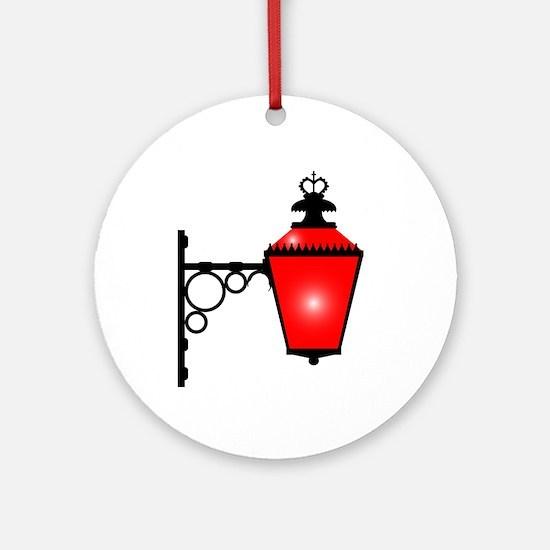 Brothel Red Light Round Ornament
