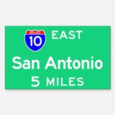 San Antonio TX, Interstate 10 East Decal