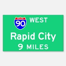 Rapid City SD, Interstate 90 West Decal