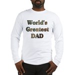World's Greatest Dad Camouflage Long Sleeve TShirt