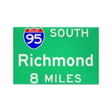 Richmond VA, Interstate 95 South Rectangle Magnet