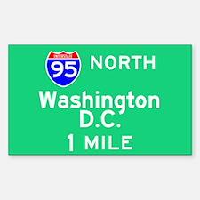 Washington D.C. Interstate 95 North Decal