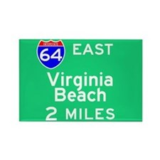 Virginia Beach VA, Interstate 64 East Rectangle Ma