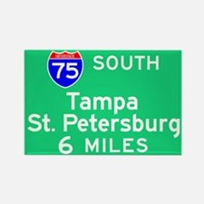 Tampa St. Petersburg FL, Interstate 75 South Recta