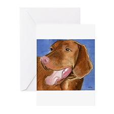 Cute Vizsla dog art Greeting Cards (Pk of 10)