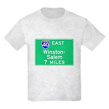 Winston-Salem NC, Interstate 40 East T-Shirt