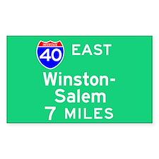 Winston-Salem NC, Interstate 40 East Decal