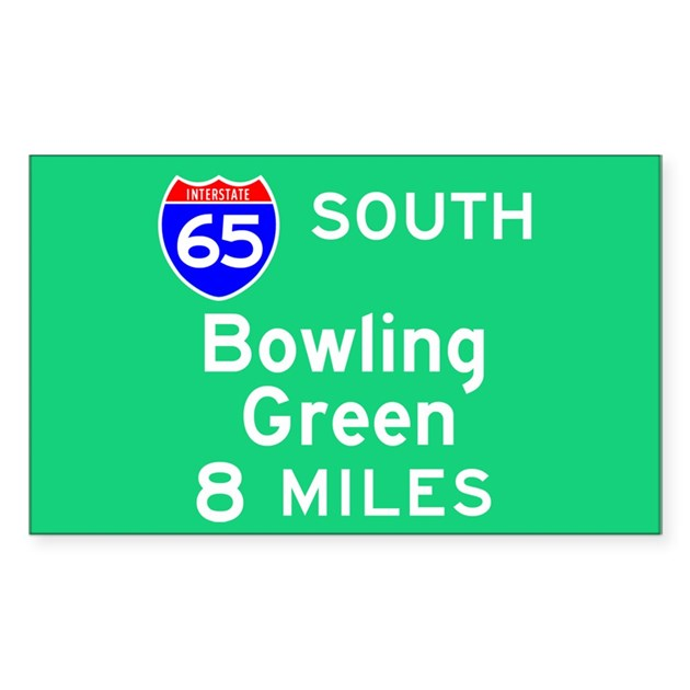 Bowling Green Ky Interstate 65 South Decal By Thebesttees