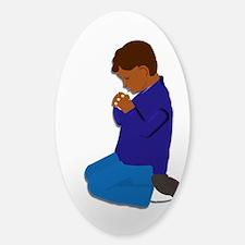 Praying Boy Decal