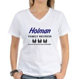 Holman family crest Womens V-Neck T-shirts