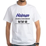 Holman family crest Mens White T-shirts