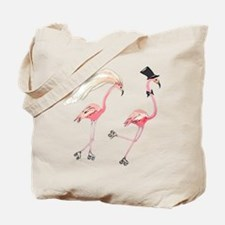 Bride and Groom Flamingos Tote Bag