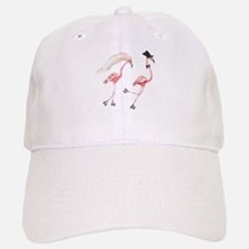 Bride and Groom Flamingos Baseball Baseball Baseball Cap