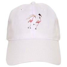 Bride and Groom Flamingos Baseball Cap