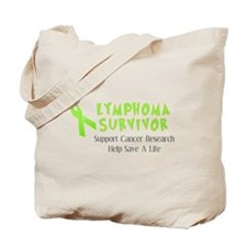 LYMPHOMA SURVIVOR AND SUPPORT Tote Bag