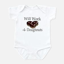 Will Work 4 Doughnuts Infant Bodysuit