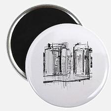 Black and White City Magnet