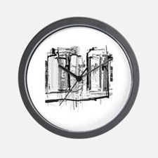 Black and White City Wall Clock