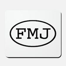 FMJ Oval Mousepad