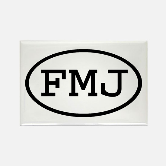FMJ Oval Rectangle Magnet