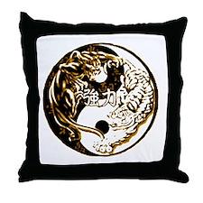 Yin Yang Cats 5 Throw Pillow