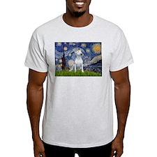 Starry Night/Bull Terrier T-Shirt
