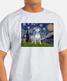 Starry Night/Bull Terrier T-Shirt