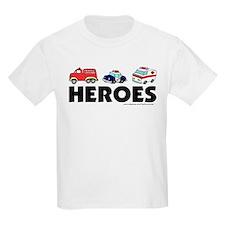 HEROES (EMT, fire, police) T-Shirt