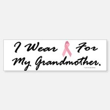 I Wear Pink For My Grandmother 1 Bumper Bumper Bumper Sticker
