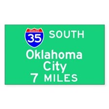 Oklahoma City OK, Interstate 35 South Decal