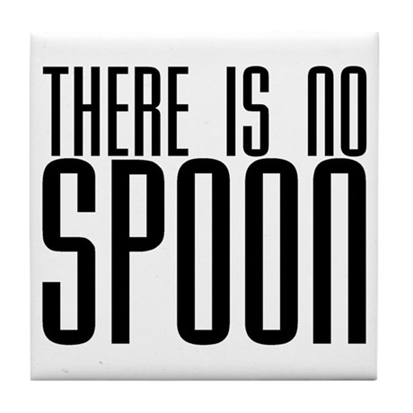 There is No Spoon Tile Coaster
