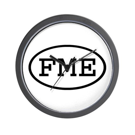 FME Oval Wall Clock